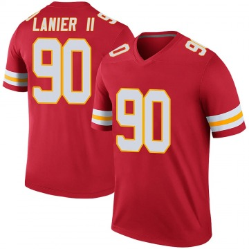 Men's Kansas City Chiefs Anthony Lanier II Red Legend Color Rush Jersey By Nike