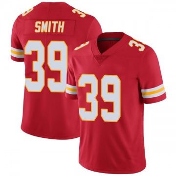 Men's Kansas City Chiefs Tremon Smith Red Limited Team Color Vapor Untouchable Jersey By Nike