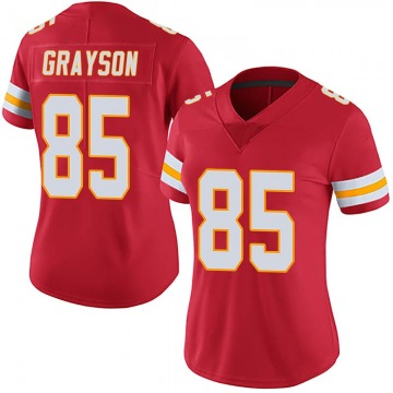 Women's Kansas City Chiefs Davon Grayson Red Limited 100th Vapor Jersey By Nike