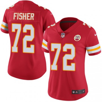 Women's Kansas City Chiefs Eric Fisher Red Limited Team Color Jersey By Nike