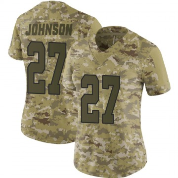 Women's Kansas City Chiefs Larry Johnson Camo Limited 2018 Salute to Service Jersey By Nike