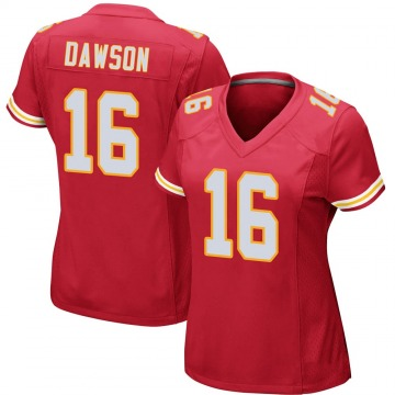 Women's Kansas City Chiefs Len Dawson Red Game Team Color Jersey By Nike