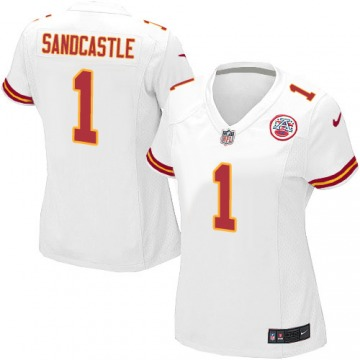 Women's Kansas City Chiefs Leon Sandcastle White Game Jersey By Nike