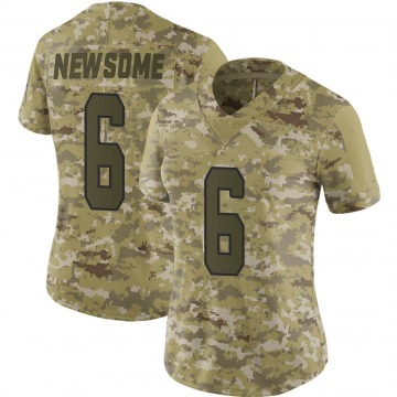 Women's Kansas City Chiefs Tyler Newsome Camo Limited 2018 Salute to Service Jersey By Nike