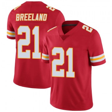 Youth Kansas City Chiefs Bashaud Breeland Red Limited 100th Vapor Jersey By Nike