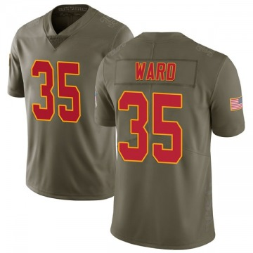 Youth Kansas City Chiefs Charvarius Ward Green Limited 2017 Salute to Service Jersey By Nike