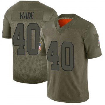 Youth Kansas City Chiefs D'Montre Wade Camo Limited 2019 Salute to Service Jersey By Nike
