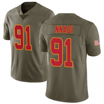 Youth Kansas City Chiefs Derrick Nnadi Green Limited 2017 Salute to Service Jersey By Nike