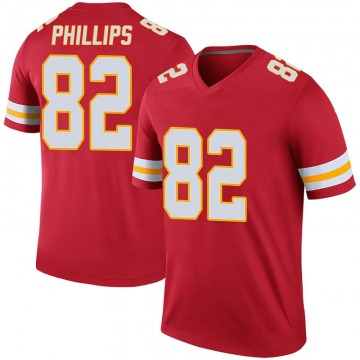 Youth Kansas City Chiefs John Phillips Red Legend Color Rush Jersey By Nike
