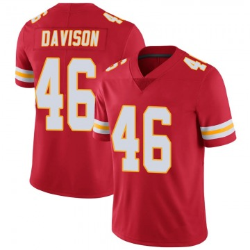 Youth Kansas City Chiefs Raymond Davison Red Limited Team Color Vapor Untouchable Jersey By Nike